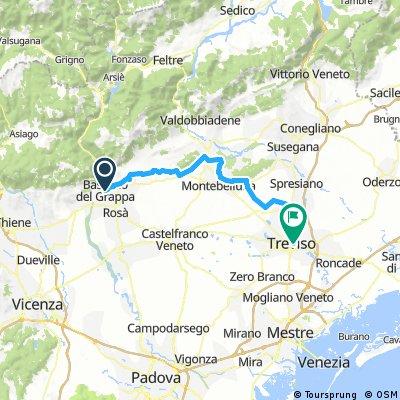 D8  Bassano del Grappa  ----  Trevisio  3H 27m