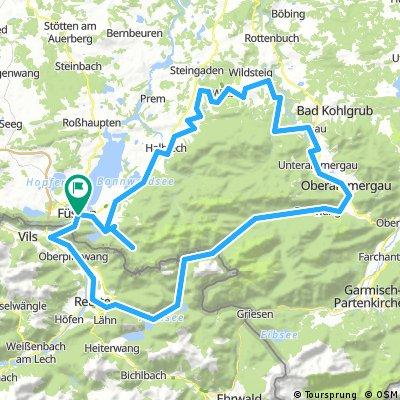Quäldich.de (Allgäu) - Schlösser- und Kirchentour zum Ammersattel
