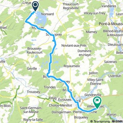 D07 Lac de Madine - Toul (56 km)