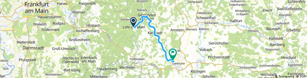 Lohr nach Würzburg