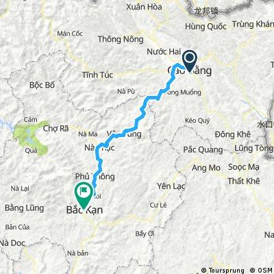 Cao Bang to Bac Kan