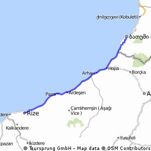 Cycling routes and bike maps in and around Rize Bikemap Your