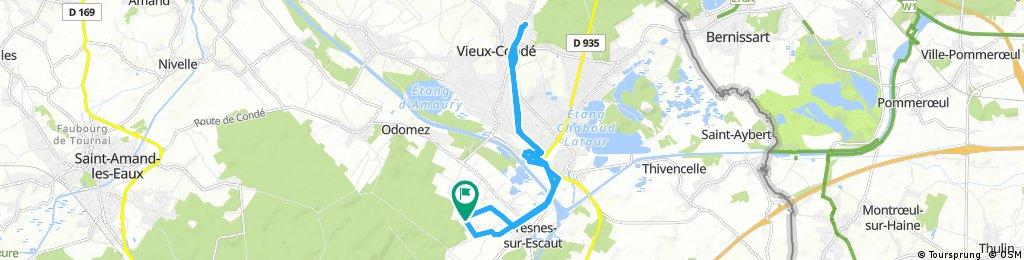 Fresnes-sur-Escaut -> vieux condé -> fresnes