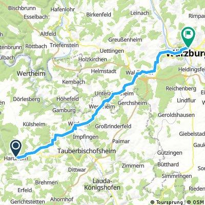OF-Würzburg Etappe 3: Hardheim-Würzburg