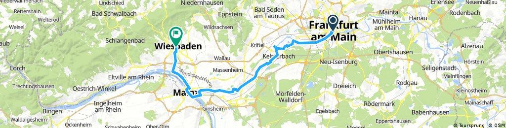 frankfurt - florsheim - mainz - wiesbaden