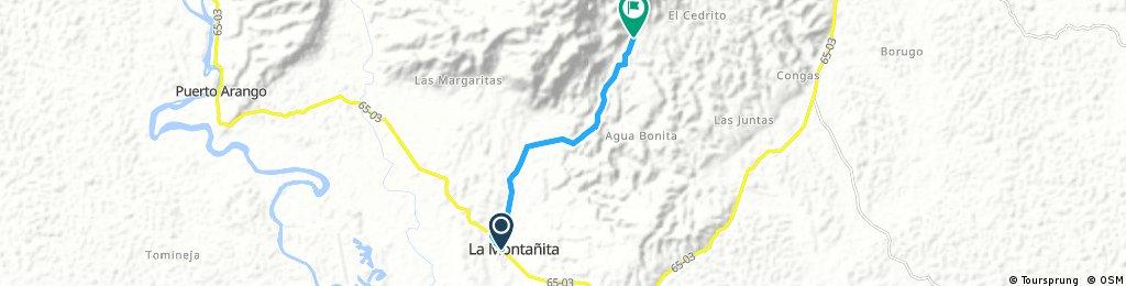 La Montañita - Bajo Jordán - El Cedro - Cedrito - Villa Rica del Carmén parte alta - Triunfo - La Paujilera - La Carpa - Balcones - Buenos Aires - La Y Agua Blanquita - El Carmen