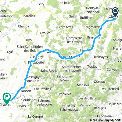 D15 Cluny - Charlieu (66 km)