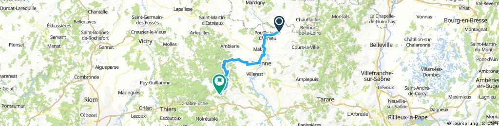 D16 Charlieu - St Just en Chevalet (64 km)