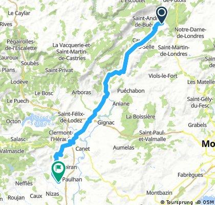 D23 Brisac - Adissan (52 km)