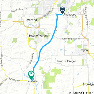 Fitchburg, WI to Belleville