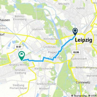Kurze Ausfahrt durch Leipzig