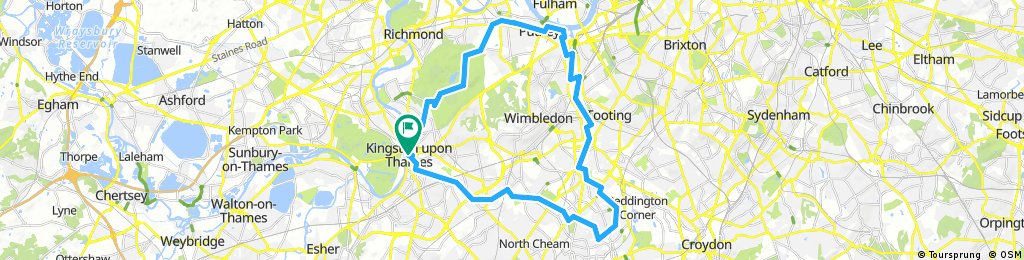Bread pudding ride to Merton Abbey Mills