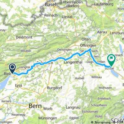 Schenkon - Biel  92km 420u über Zopfigen 5h45