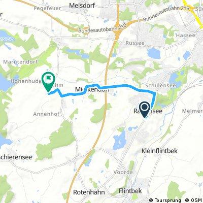 Kurze Ausfahrt von Molfsee nach Rodenbek