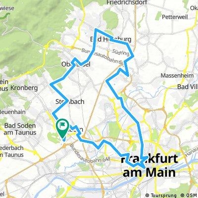 Trainingsstrecke ŠKODA Velotour 50 km