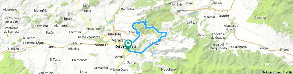Granada . Fargue . Nivar . Sierra Huetor . Aguas Blancas