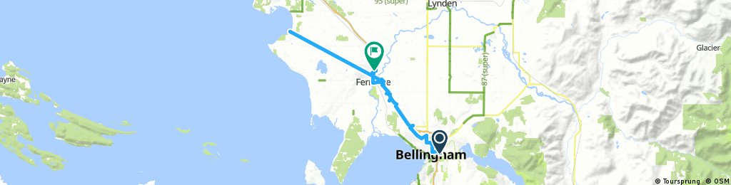 ride from Pastviny to Ferndale