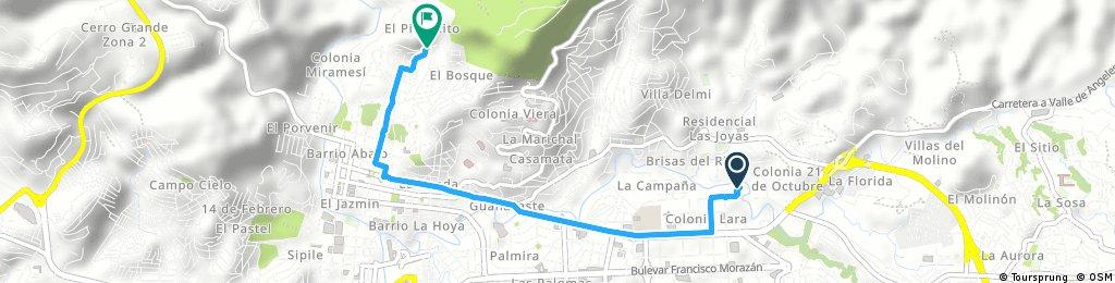 Brief ride through Tegucigalpa