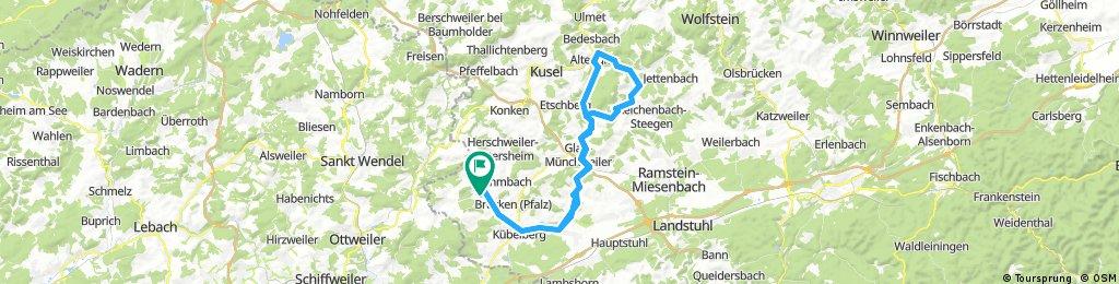 Elschbach Glan-Münchweiler  Gimsbach  rund um den Potzberg