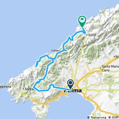 Palma Port Sller avec AR Banyalbufar et Estellencs Bikemap