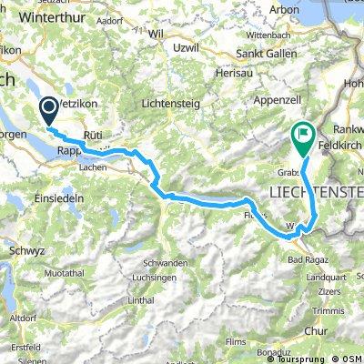 Oetwil am See - Vaduz