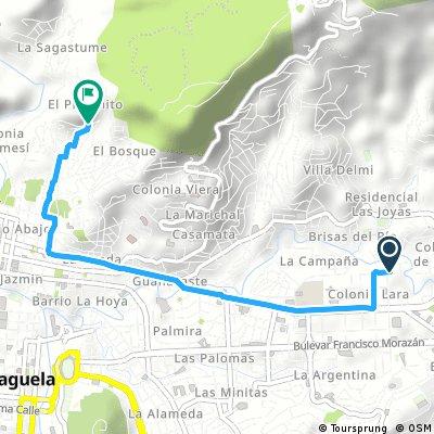 Short ride through Tegucigalpa