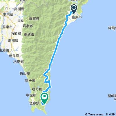 環島第四天:台東至滿州_139.7KM