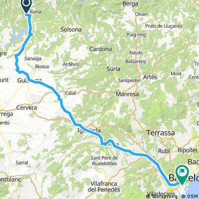 Bassella  Barcelona 147km 1250hm