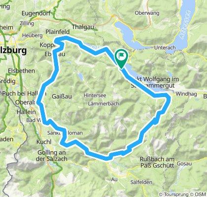 Salzburgerland'16/Etappe 3: St. Gilgen - Postalm - Lienbachsattel - Lammertal - Weitenau - Wegscheid - St. Koloman - Wiestal - Hof/B318 - Fuschl - St. Gilgen
