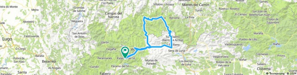 Palacios - Villablino - Somiedo - San Lorenzo - Ventana - Villablino - Palacios