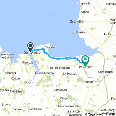 24/05* SAINT MAILO PARA PONTORSON PELA CICLOVIA 50 km