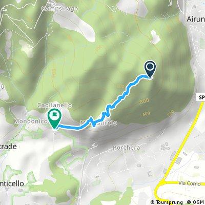 Il Sentiero 2 dal Monte Crosaccia a Mondonico
