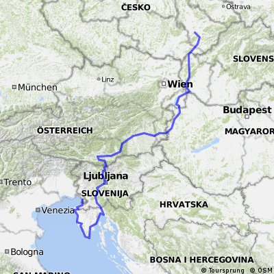 Cycling routes and bike maps in and around Trieste Bikemap Your
