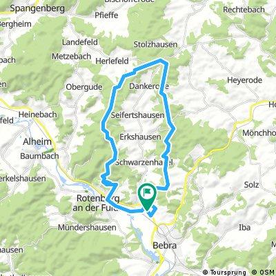 Lispenhausen - Alheimer - Metzebacher Höhe - Schwarzer Stock - Betteleiche - Lispenhausen