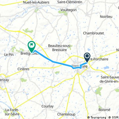 Cycling routes and bike maps in and around Bressuire | Bikemap ...