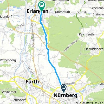 ride from Nuremberg to Erlangen
