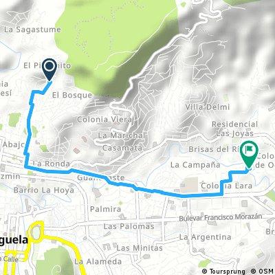 Short bike tour through Tegucigalpa