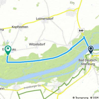 Zachádzka z Hundsheimer Berge Tour na zámok Eckartsau