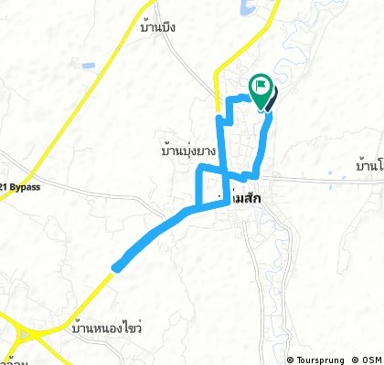 bike tour through Lom Sak