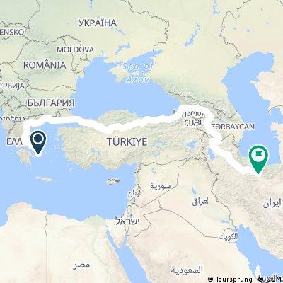 Athen to Teheran