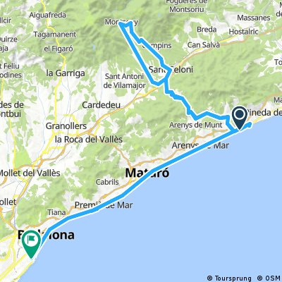 70.3 Calella From BCN and Back