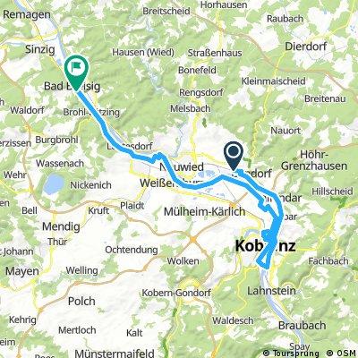 Mittelrheintal Koblenz.