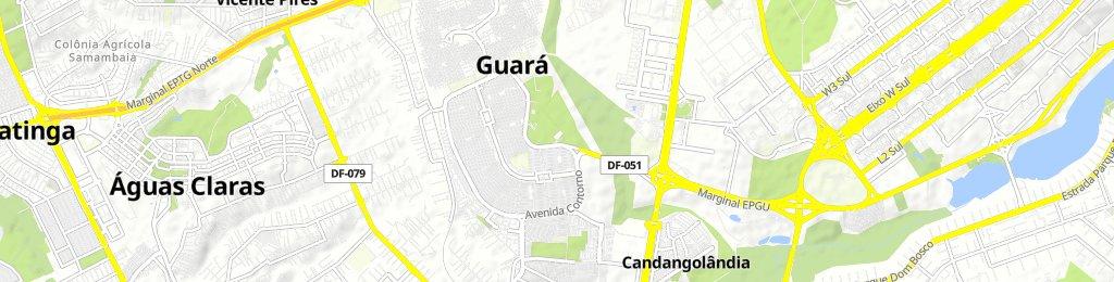 Guará-Candangolândia por dentro | Bikemap - Your bike routes
