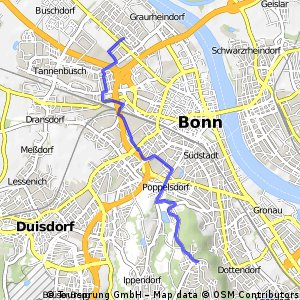 Navigate 8 km long cycling route in Bonn Bikemap Your bike routes