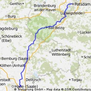 Berlin - Rom 2012 - 1. Etappe - Potsdam - Kabelsketal