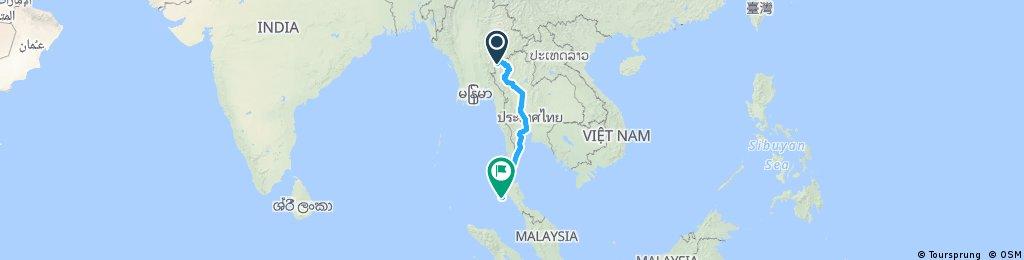 Thailand Tour von Nord nach Süd
