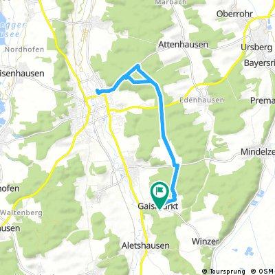 Radrunde durch Aletshausen