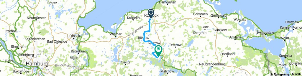 Rostock Berlin 1 Etappe 79km Bikemap Your Bike Routes