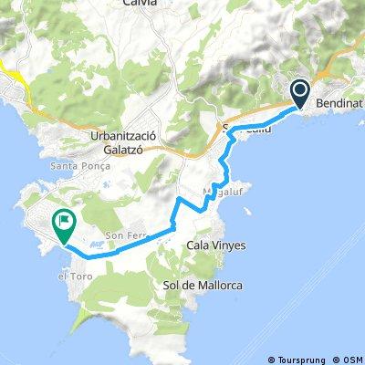 Port Adriano und zurück ( ab Palmanova auch Radweg gerade weiter möglich )