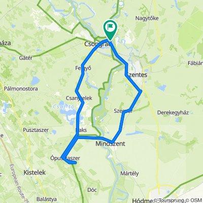 Ópusztaszer kör - 83 km